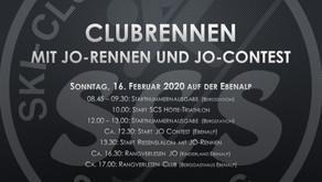 Clubrennen mit JO-Rennen & JO-Contest auf der Ebenalp FINDET STATT