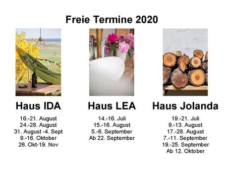 Freie Termine 2020
