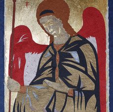 Archangel Michael, after Rublev icon, 1380