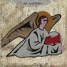 Four Gospel Writers:  Matthew after mosaic, Sant Andrea Ravenna, 519