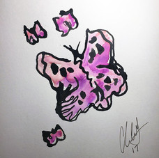 Buterflies, pink