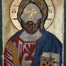 Christ Pantocrator, after Byzantine icon, 1400