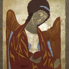 Archangel Gabriel, after Byzantine icon, 1387