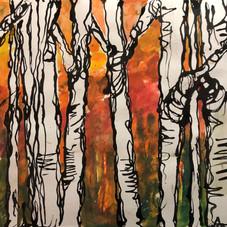 Poplars, Autumn