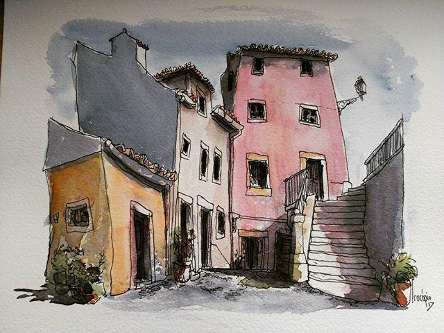 #alfama #lisboa #watercolors #plainair #