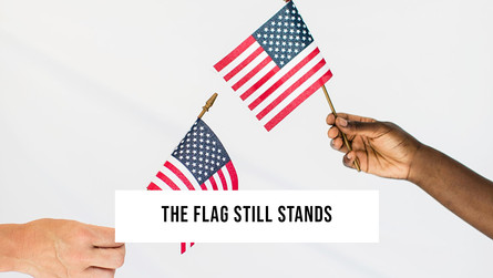 The flag still stands for freedom!