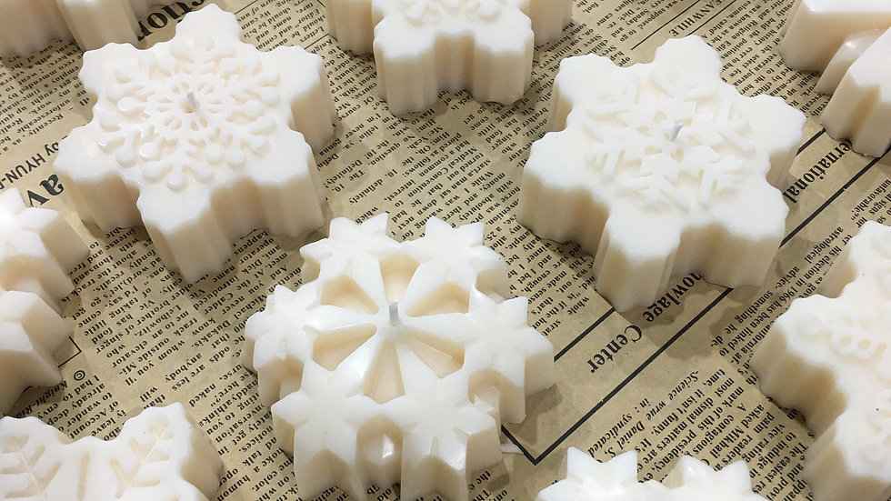 Snow flake candles