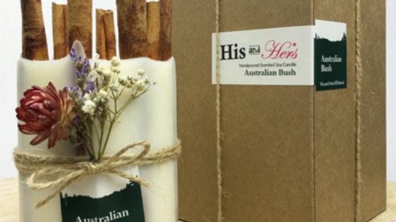 Australian Bush with Cinnamon bark stick