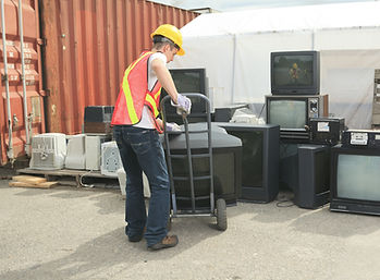 Residential television recycling, Municipal electronics recycling