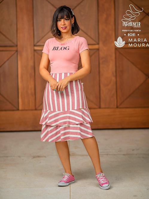 Vestido Eluana Rosa