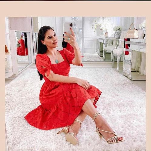 Vestido Vermelho Lase