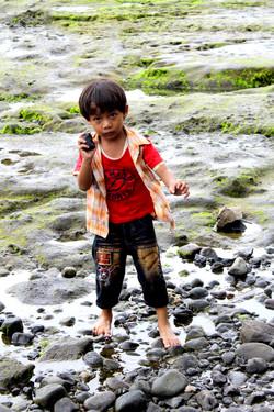 little boy on Bali