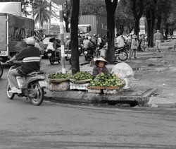 old lady selling fruits