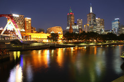 Riverside Melbourne by night