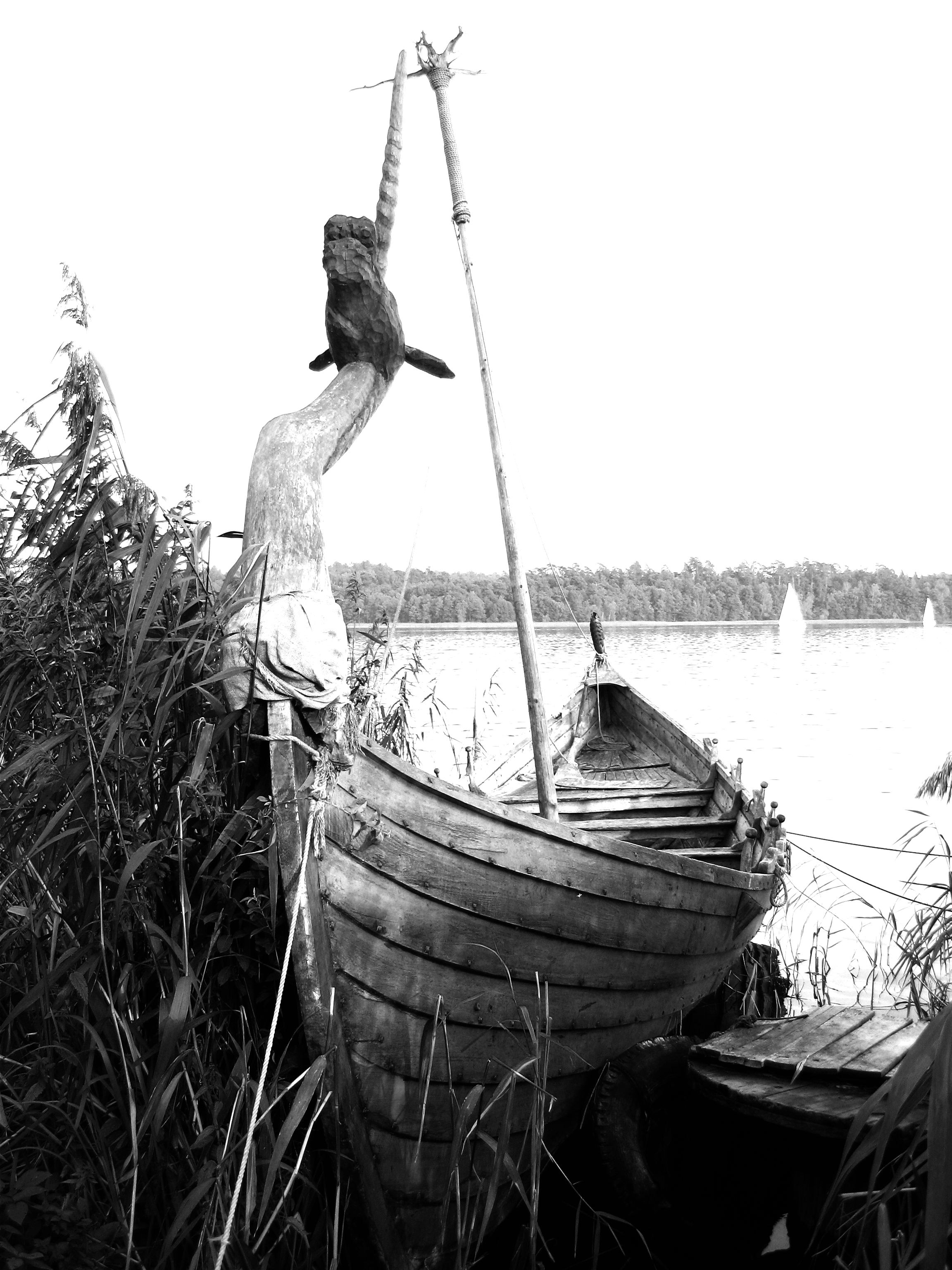 old viking boat in Poland