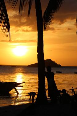 sunset on the philippines
