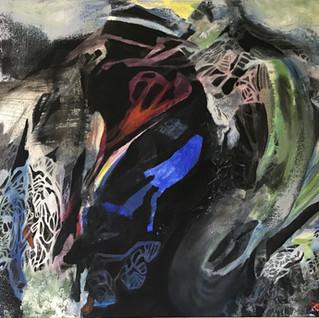 A DERIVA | 2020 | Pintura | Oleo e nanqu