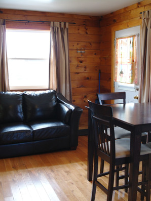Cottage #1's main room without the pull out.