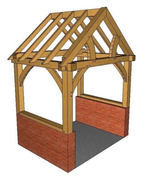 Brick Plinth Porch