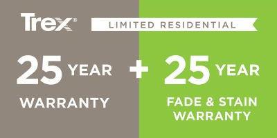 Trex Decking 25 Year Warranty