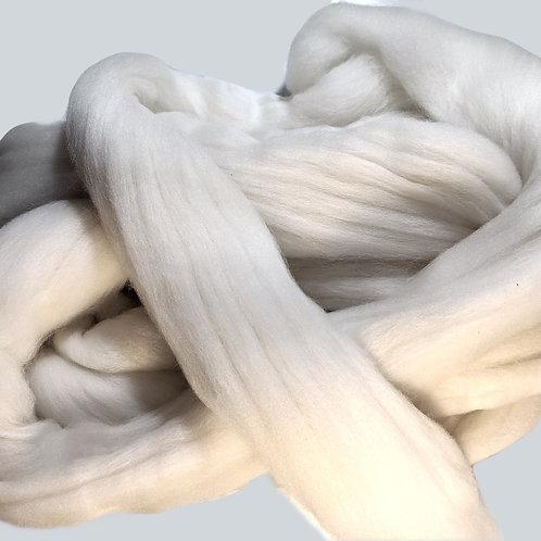 Rambouillet - 21 micron wool top - 4 oz