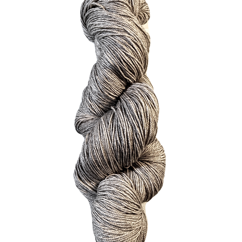 Athena - Yak / Silk / Merino natural grey Fingering