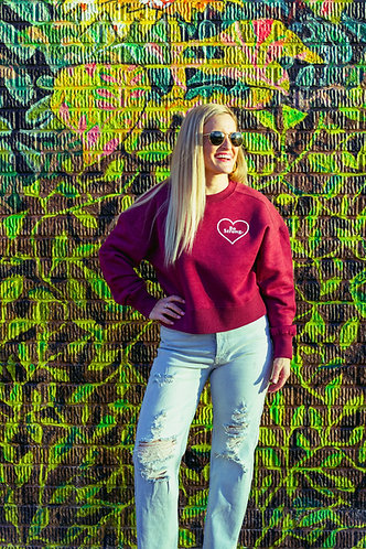 """Be Strong"" Womens Crop Sweatshirt"
