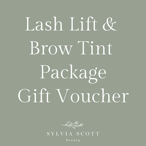 Lash Lift + Brow Tint Package Gift Voucher