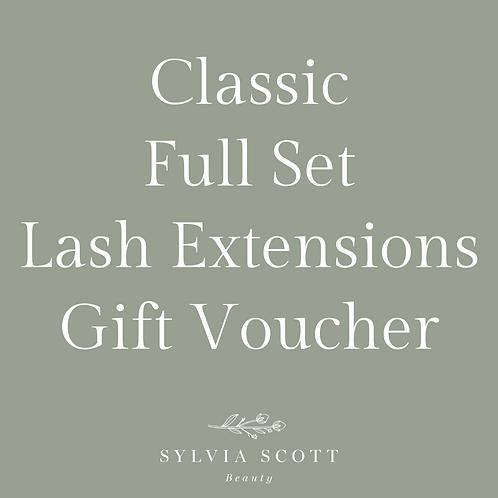 Classic Full Set Lash Extensions Gift Voucher