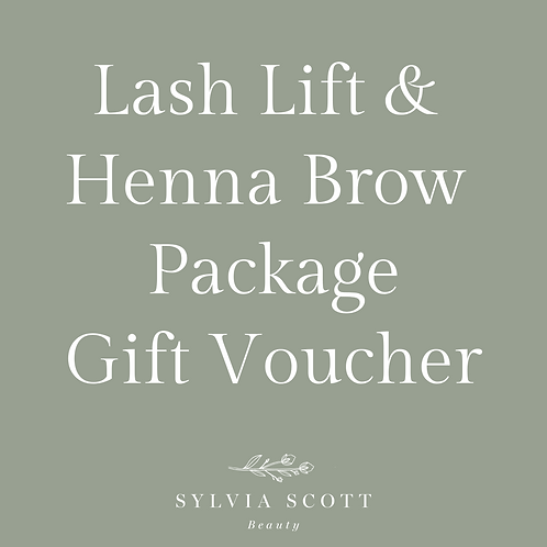 Lash Lift + Henna Brows Package Gift Voucher