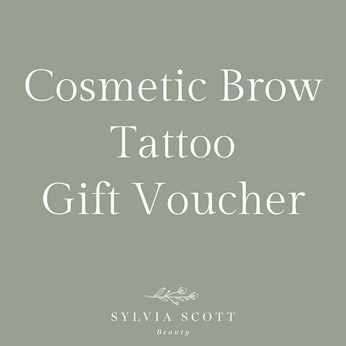 Digital Cosmetic Brow Tattoo Gift Voucher