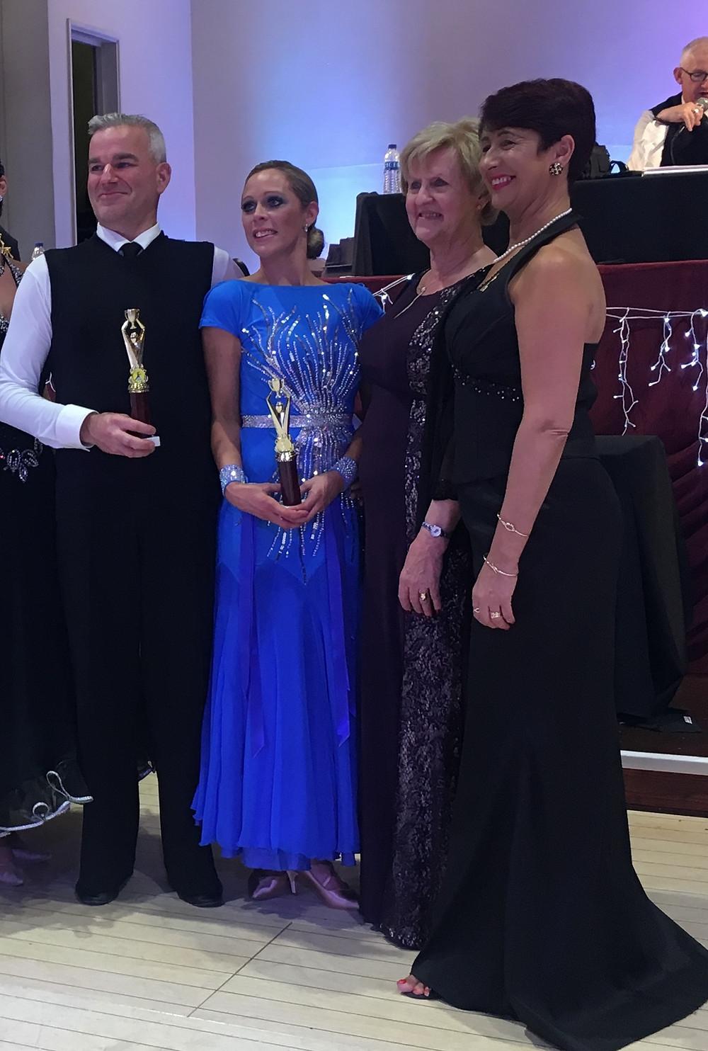 Matt & Julie WINNING both Ballroom & Latin Couples Categories o35yrs.