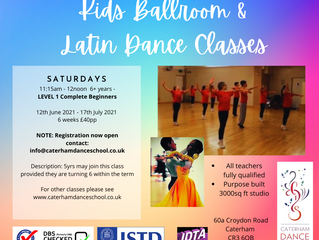 New for Summer - Saturday Kids Class starting 12th June 2020
