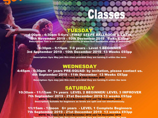 NEW - Children Ballroom and Latin Courses for Autumn 2019