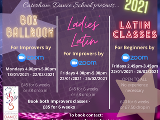 Join our Ballroom & Latin solo classes starting this week.  We are still zooming right along!