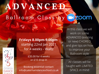 Join our new advanced class starting this week.  We are still zooming right along!