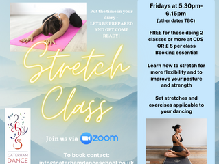 Join our NEW STRETCH classes starting this week.  We are still zooming right along!