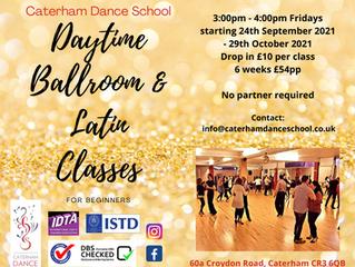 NEW DAYTIME Ballroom & Latin CLASS starting 24th September