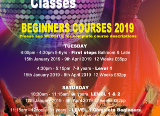 NEW 2019 Childrens Ballroom & Latin Courses
