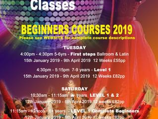 NEW 2019 Childrens Ballroom & Latin Courses