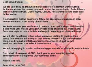 Temporary Closure March 2020
