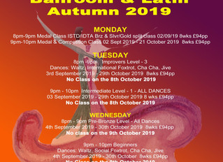 NEW For AUTUMN 2019 Ballroom & Latin Adult Classes
