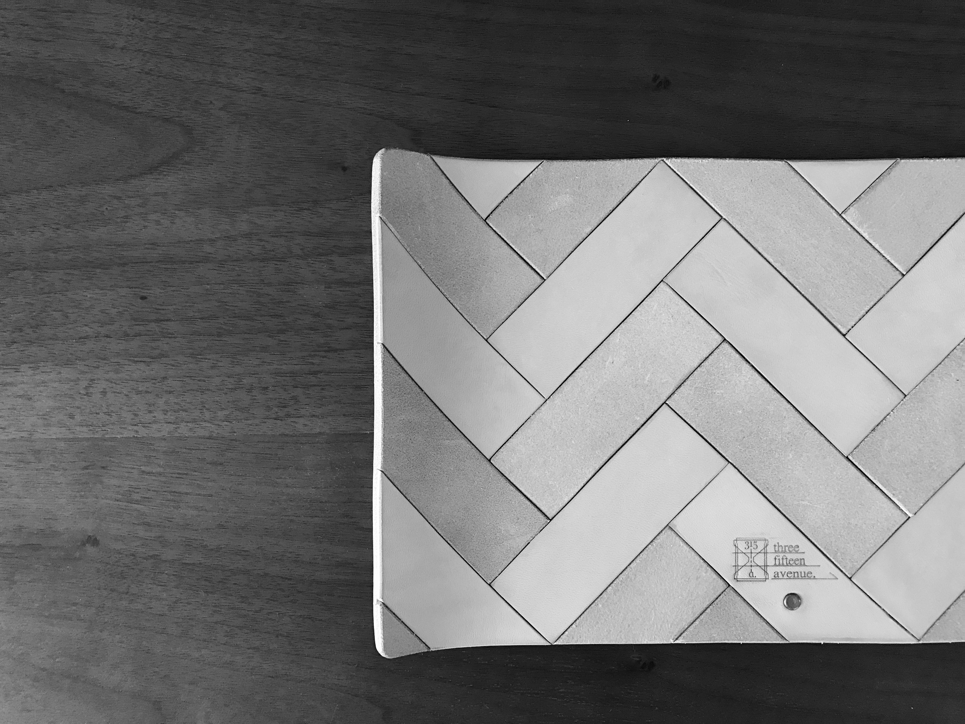three fifteen herringbone tray