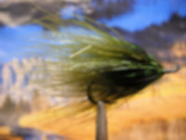 Olive and Black Marabou