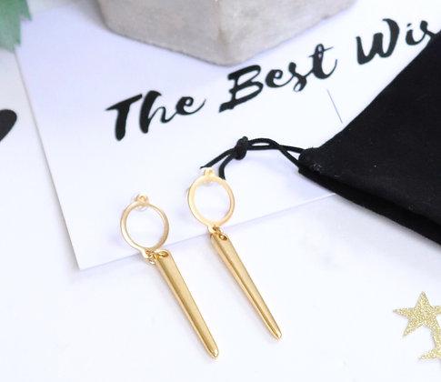 Rotem Brenner Jewelry | רותם ברנר | עגיל סלין | עגיל תלוי זהב