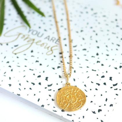 Rotem Brenner Jewelry | רותם ברנר | שרשרת אליזבת | שרשרת מטבע קצרה