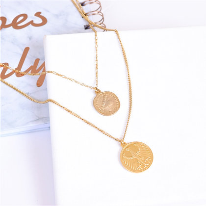 Rotem Brenner Jewelry   רותם ברנר   שרשרת איזבל   שרשרת שכבות מטבעות