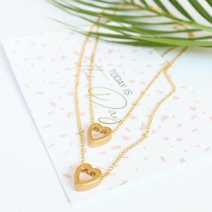 Rotem Brenner Jewelry | רותם ברנר | שרשרת תמרה | קצרה לב זהב