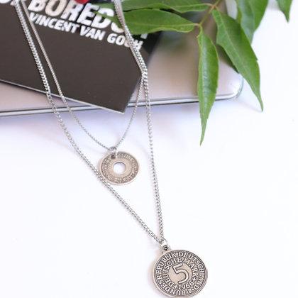Rotem Brenner Jewelry | רותם ברנר | שרשרת איזבל | שרשרת שכבות כסף