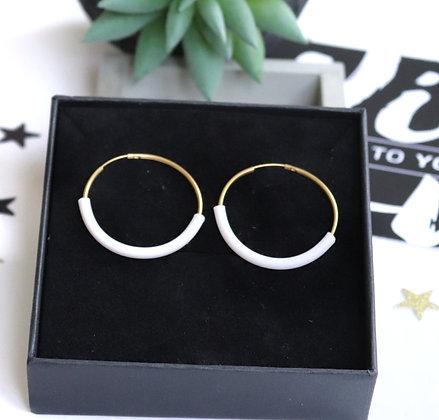 Rotem Brenner Jewelry | רותם ברנר | עגיל מאיה| עגילי חישוק זהב